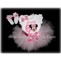 Minnie Mouse Tutu Set Vestido Cumpleaño Personalizado
