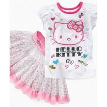 Pedido: Lindo Polito+ Falda Hello Kitty Para Tu Engreida