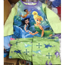 Pijamas Niña Tinkerbell Disney Talla 4 Micropolar