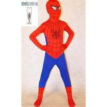 Disfraz Disfraces Importado Hombre Araña Lycra Spandex Niños