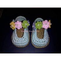 Zapatos Tejidos Para Bebe En Crochet