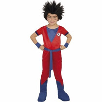 Disfraz Disfraces Goku Dragon Ball Rojo+mascara Peluca Niños