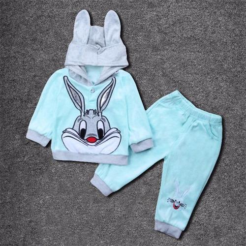 ropa infantil para niño / niña azul - conejo bugs bunny