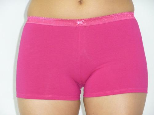 ropa interior dama pantaleta boxer algodón / encaje