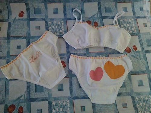 ropa interior de niña, paquete tres piezas, panty para niña