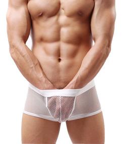 5530d7b0b47d Ropa Interior Masculina Transparente Sexy Erótico Boxer 030