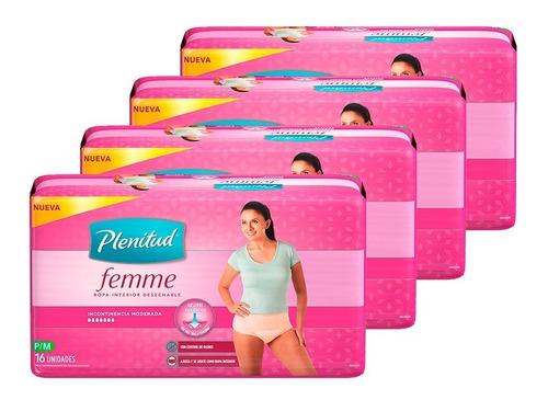 ropa interior plenitud femme x 16 unidades pack x 4