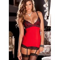 *****linda Lenceria*****babydoll Sexy Color Rojo