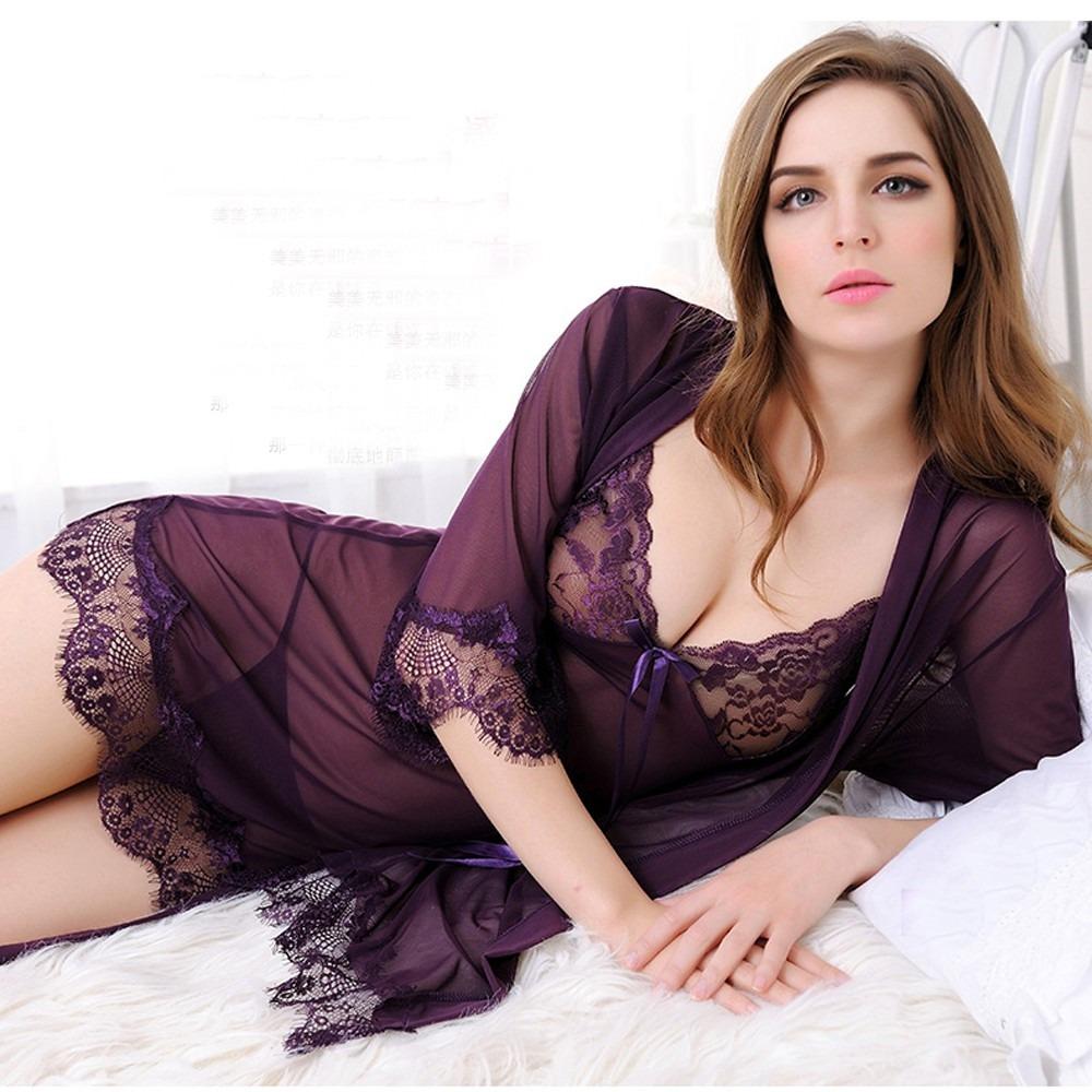 Ropa interior sexy para mujeres de encaje transparente - Ropa interior de mujer de encaje ...