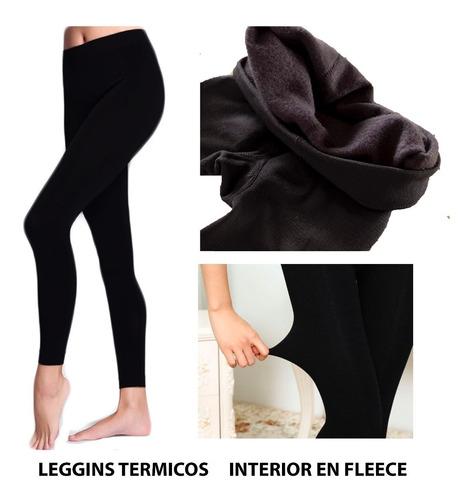 ropa invierno leggings media térmica interior fleece