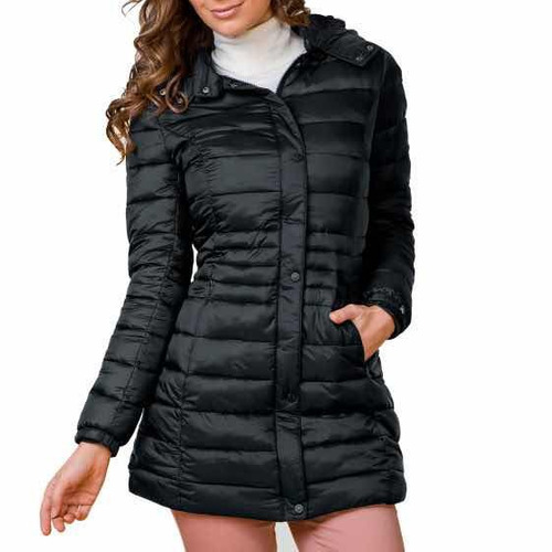 ropa mujer abrigo negro chamarra lluvia largo