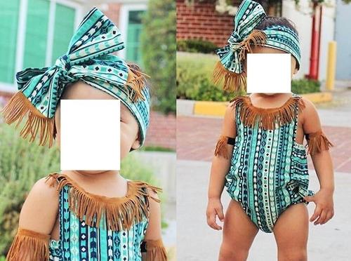 ropa niña body enterizo bebe con accesorios importado