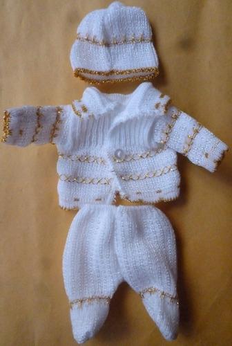 ropa niño dios bebe tejido  30cm dia candelaria tamales 2 fe