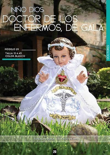 ropa niño dios dr de gala 15cm  dia calendaria tamales