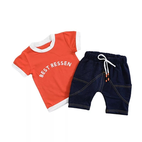 ropa niños conjuntos prenda pantalon corto y camiseta online