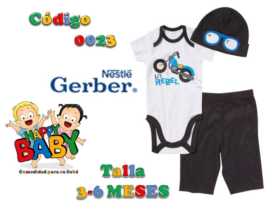 0391ac441 ropa para bebe niño conjunto 3 piezas marca gerber 3-6 meses. Cargando zoom.