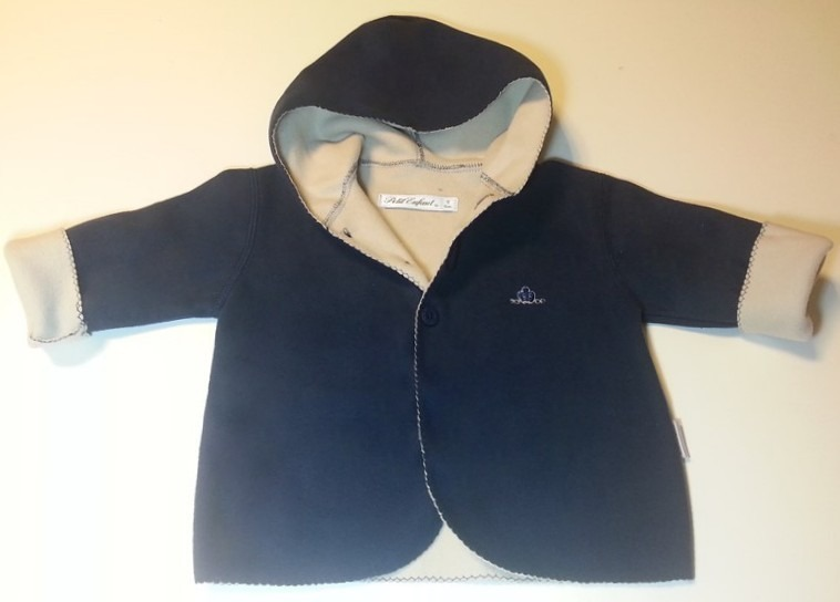 0e5e3310b Ropa Para Bebes Campera Polar Con Capucha Petit Enfant -   780