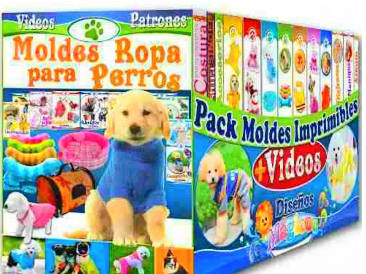 Ropa Para Perros Mega Kit Patrones, Moldes, Juguetes - $ 20,00 en ...