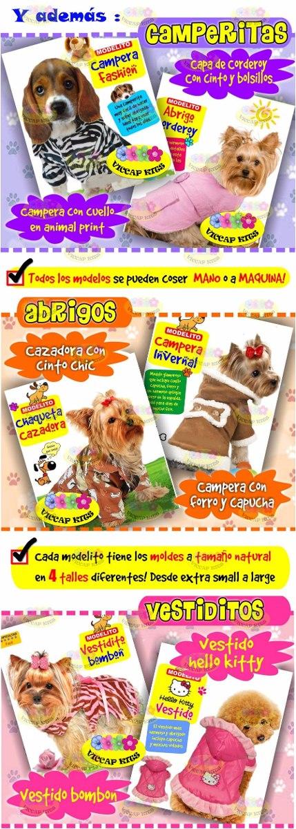 Kit Imprimible Moldes Y Patrones Ropa Para Perros Confeccion - $ 64 ...