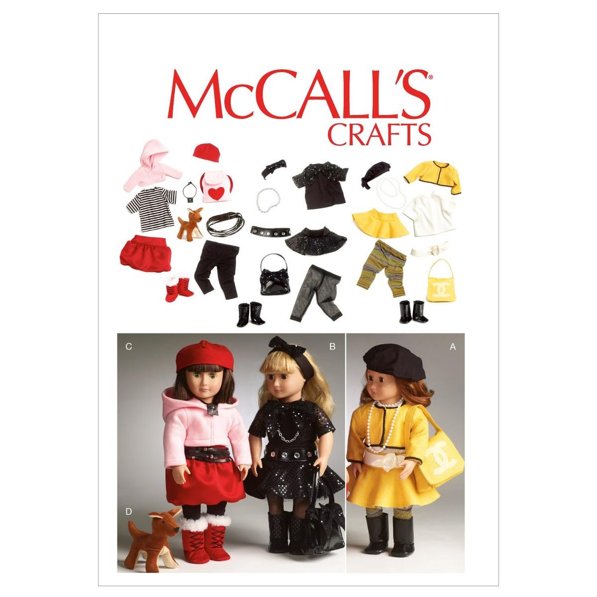 Patrones De Mccall M6669 Ropa Para Muñeca De 18 Pulgadas / A ...