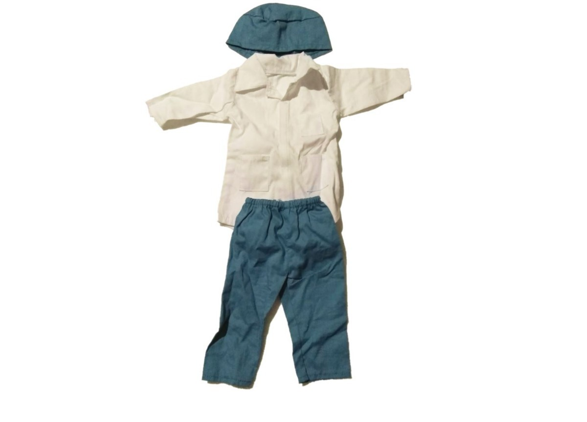 61e205613 Ropa Para Muñeco De 45 Cm Pantalon Camisa Bata Gorro Calzado ...