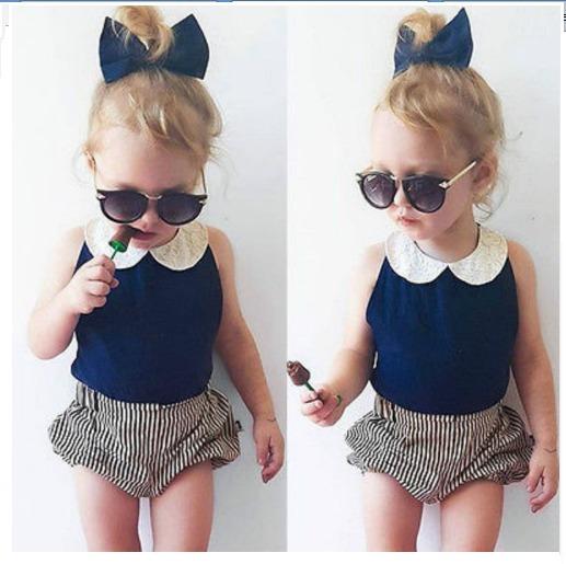 ef9d7418e Ropa Para Niña Moda Oufit Casual Hermoso Moda Para Bebe