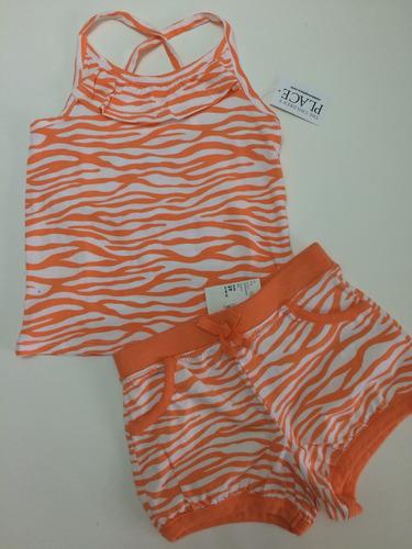 ropa para niña talla 1-2-3 falda y short importado