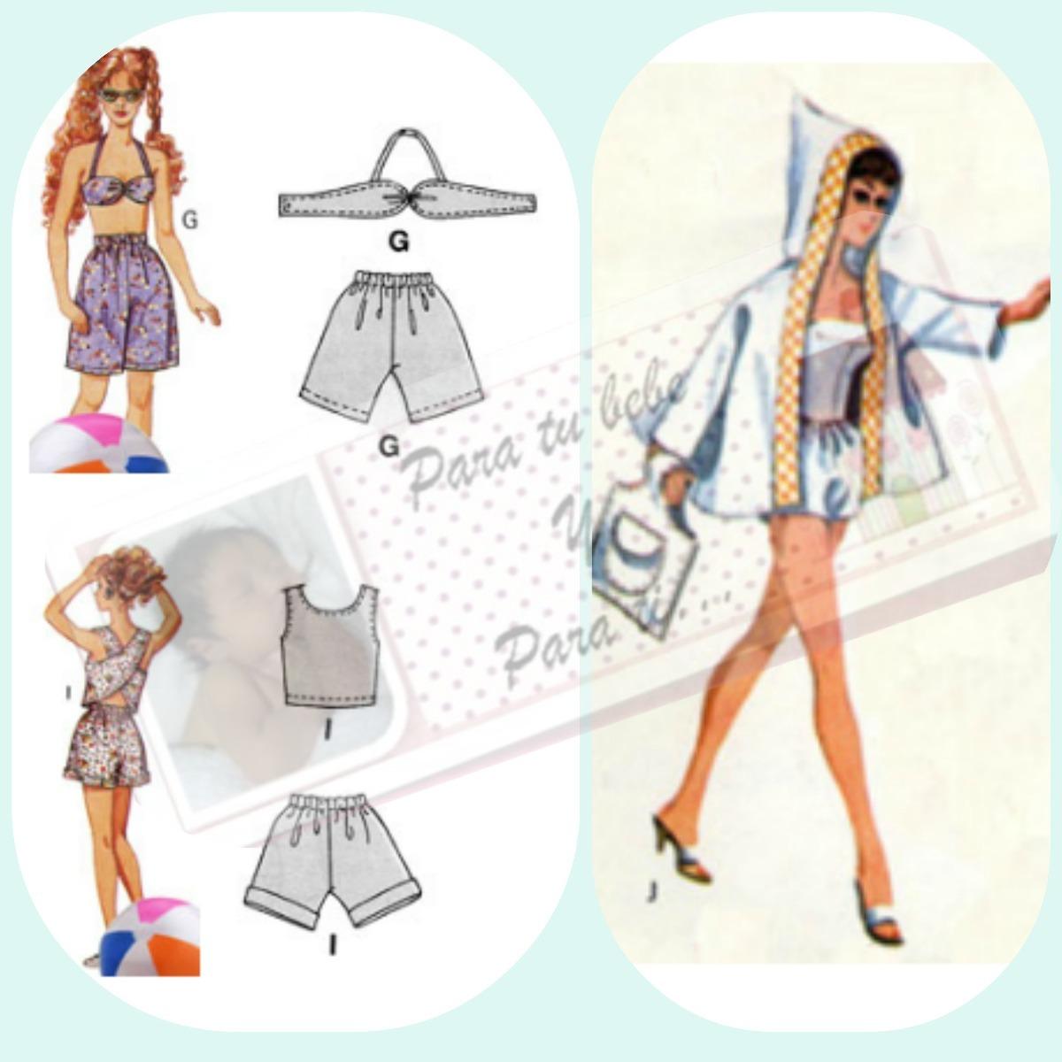 Ropa Patrones Imprimibles Tamaño Real Para Barbie - Bs. 500,00 en ...