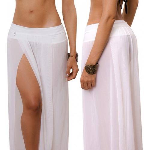 ropa playa salidas de baño faldas largas pareos praie 1420