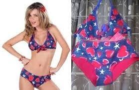 ropa playa traje d baño bikini  marca tania talla m $159