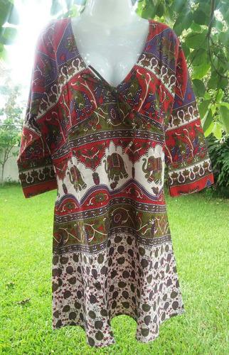 ropa playera - hindu bluson,vestido tallas plus