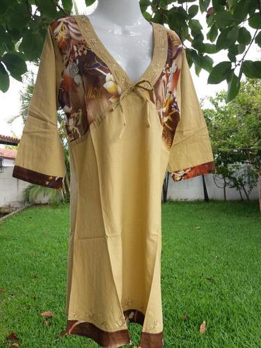 ropa playera - hindu vestiditos cortos de algodon