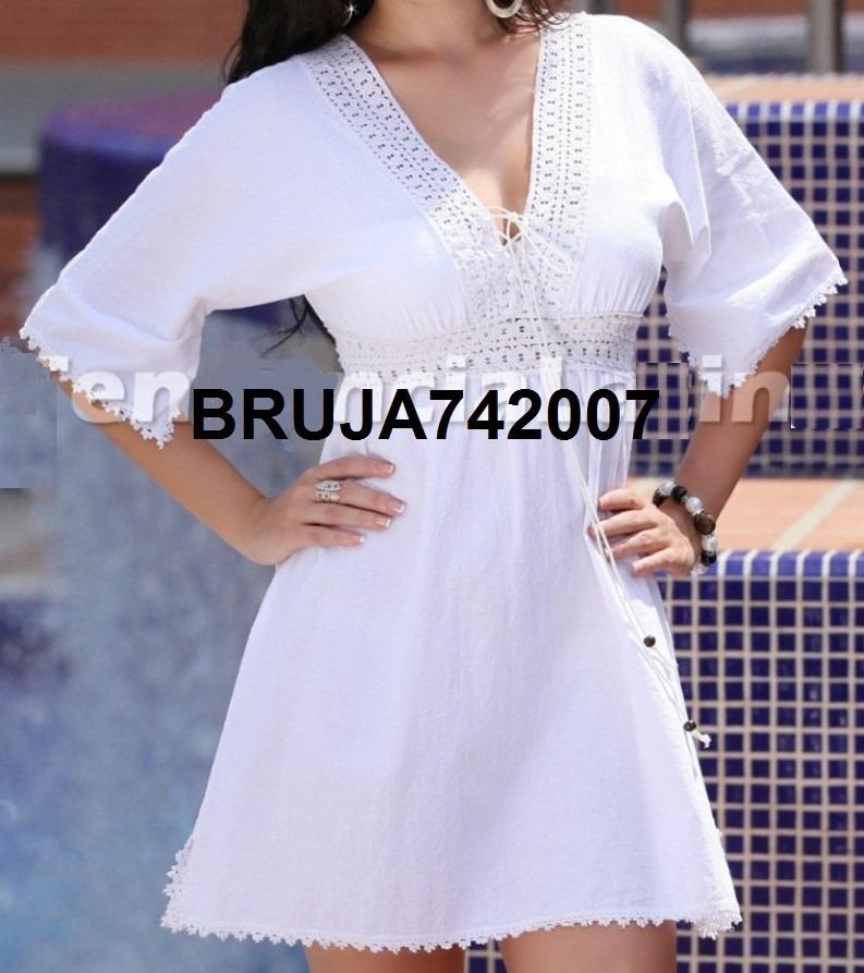 6962be59da Ropa Playera - Hindu Vestido-bluson Blanco - Bs. 180.000
