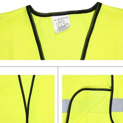 ropa seguridad reflectante fluorescente chaleco tela safty
