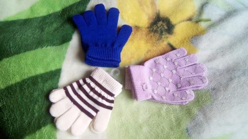 ropa térmica infantil, guantes para protegerse del frío