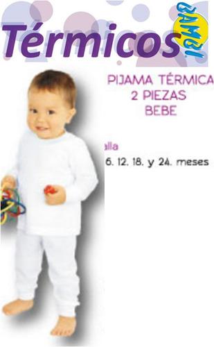 ropa termica wafle para bebe marca bambi