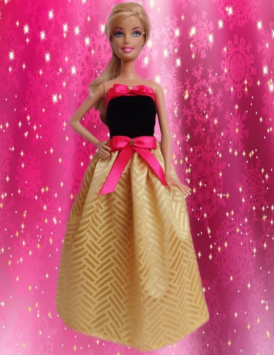 Ropa Vestidos Muñecas Barbie A Mano Juguetes Niñas Coleccion
