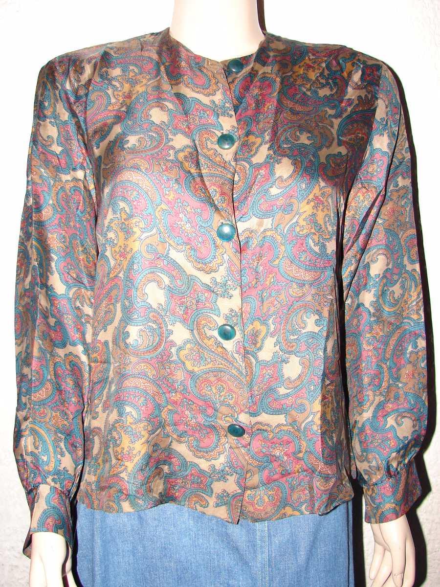 Los hombres camisa de manga larga de impresión Floral