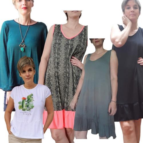 ropa x 5 unidades verano mujer combo