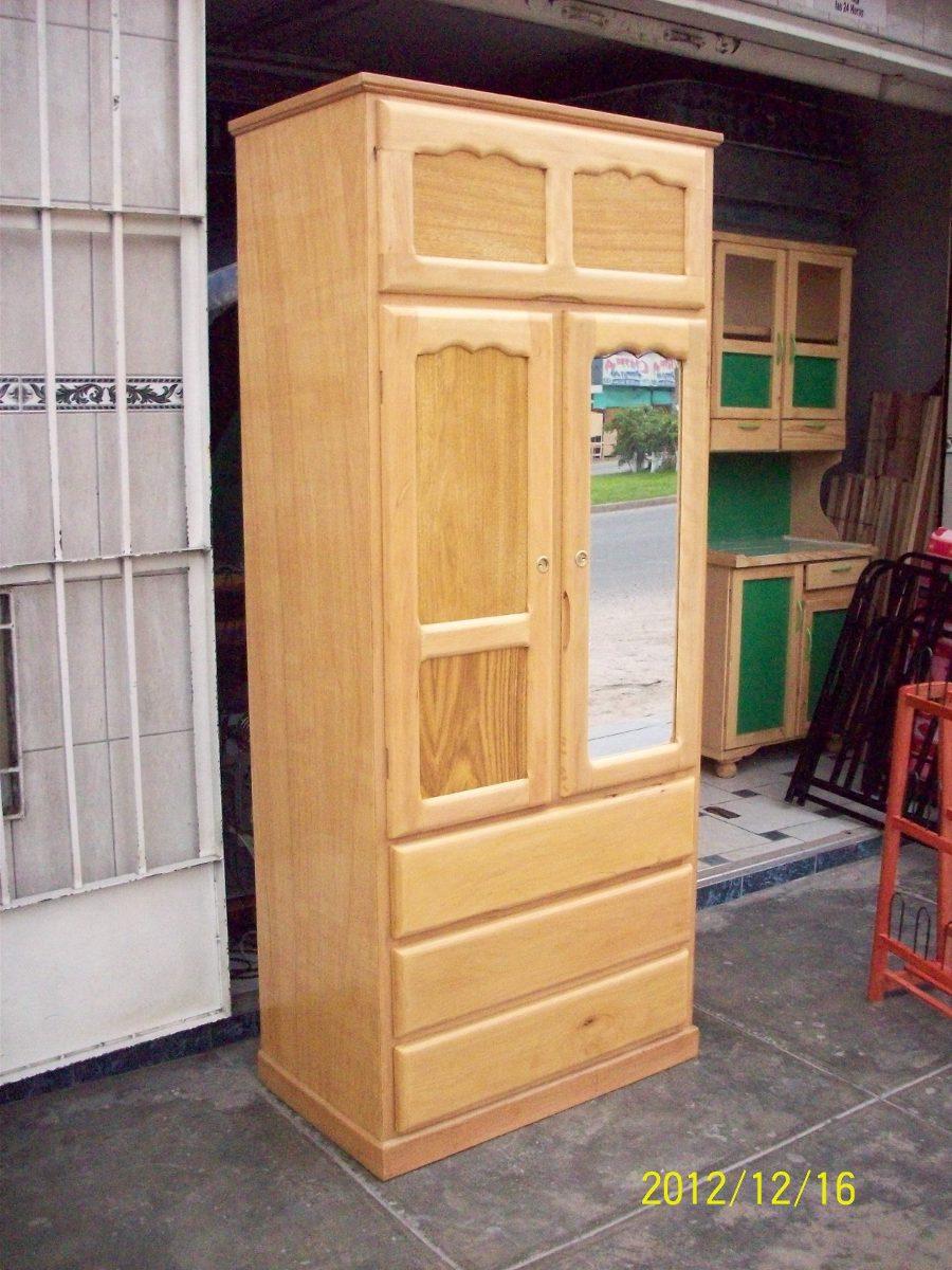 Ropero 2 puertas madera capirona x x nuevo for Roperos de madera para dormitorios