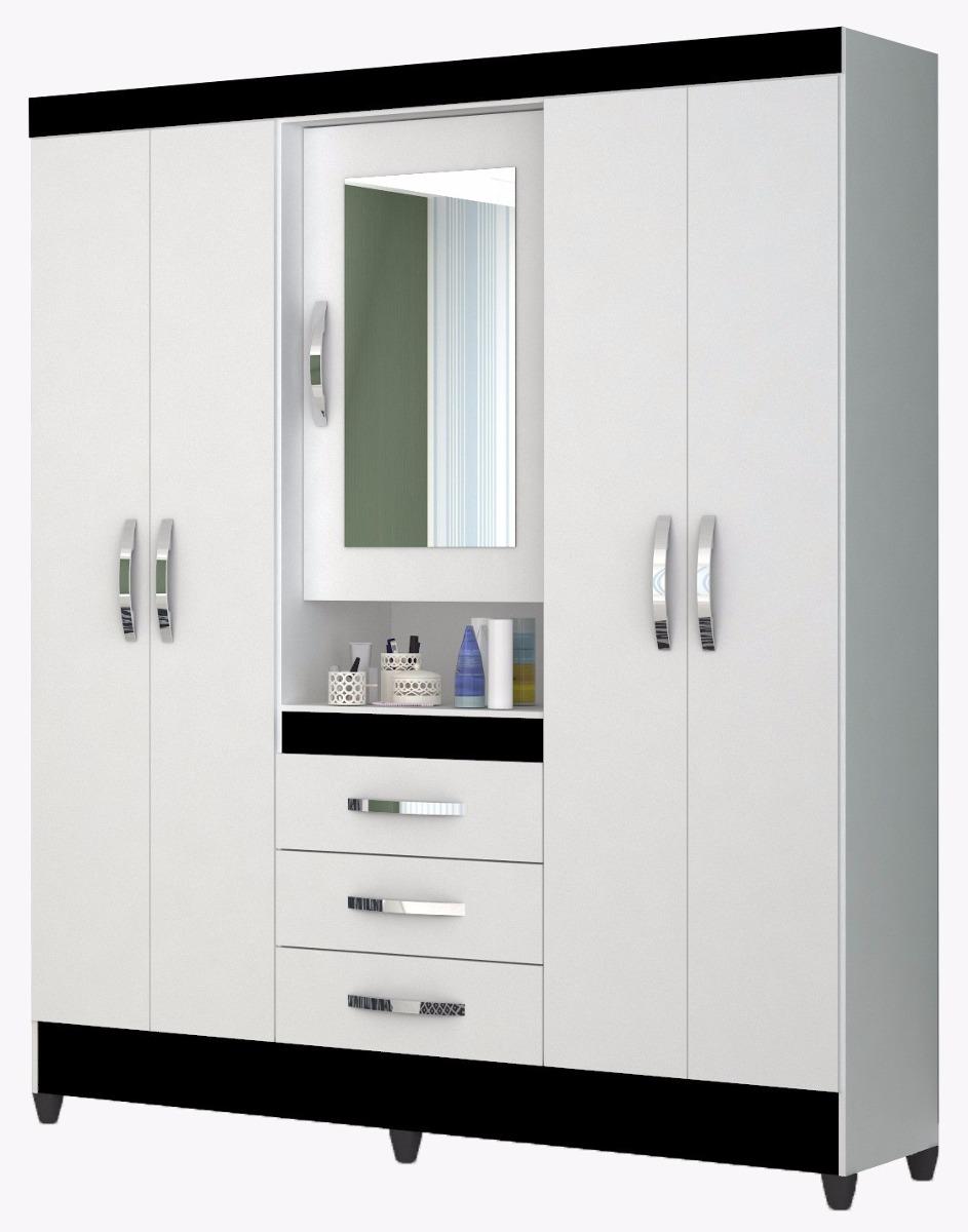 Ropero 5 puertas 3 cajones c espejo que sal for Fabricas de muebles en montevideo uruguay