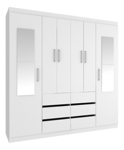 ropero 6 puertas 6 cajones opción  con espejo