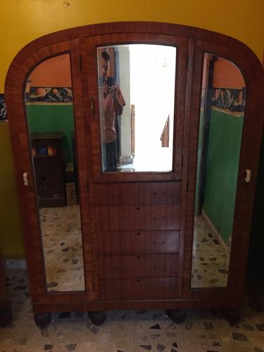 ropero antiguo art deco años 20 - 1.30 mts ancho