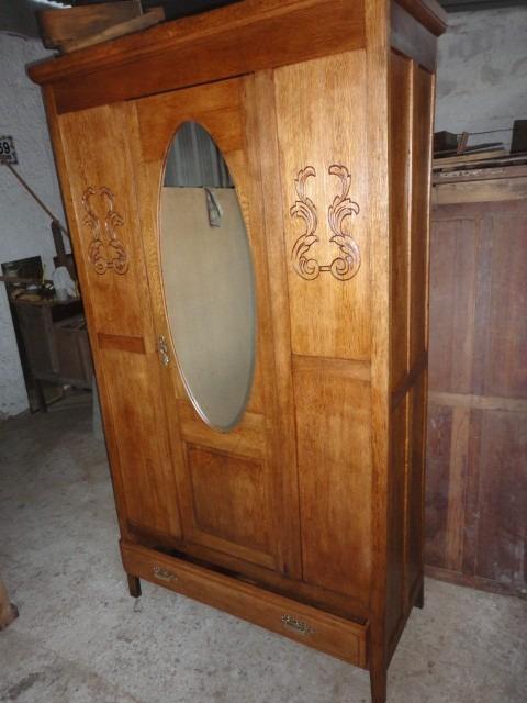 Ropero antiguo de roble en muy buen estado pronto para usar en mercado libre - Ropero antiguo ...
