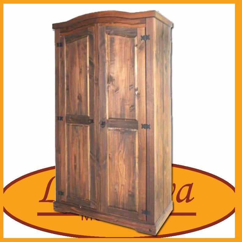 Ropero de 2 puertas madera maciza dormitorio lcm for Precio puerta madera maciza