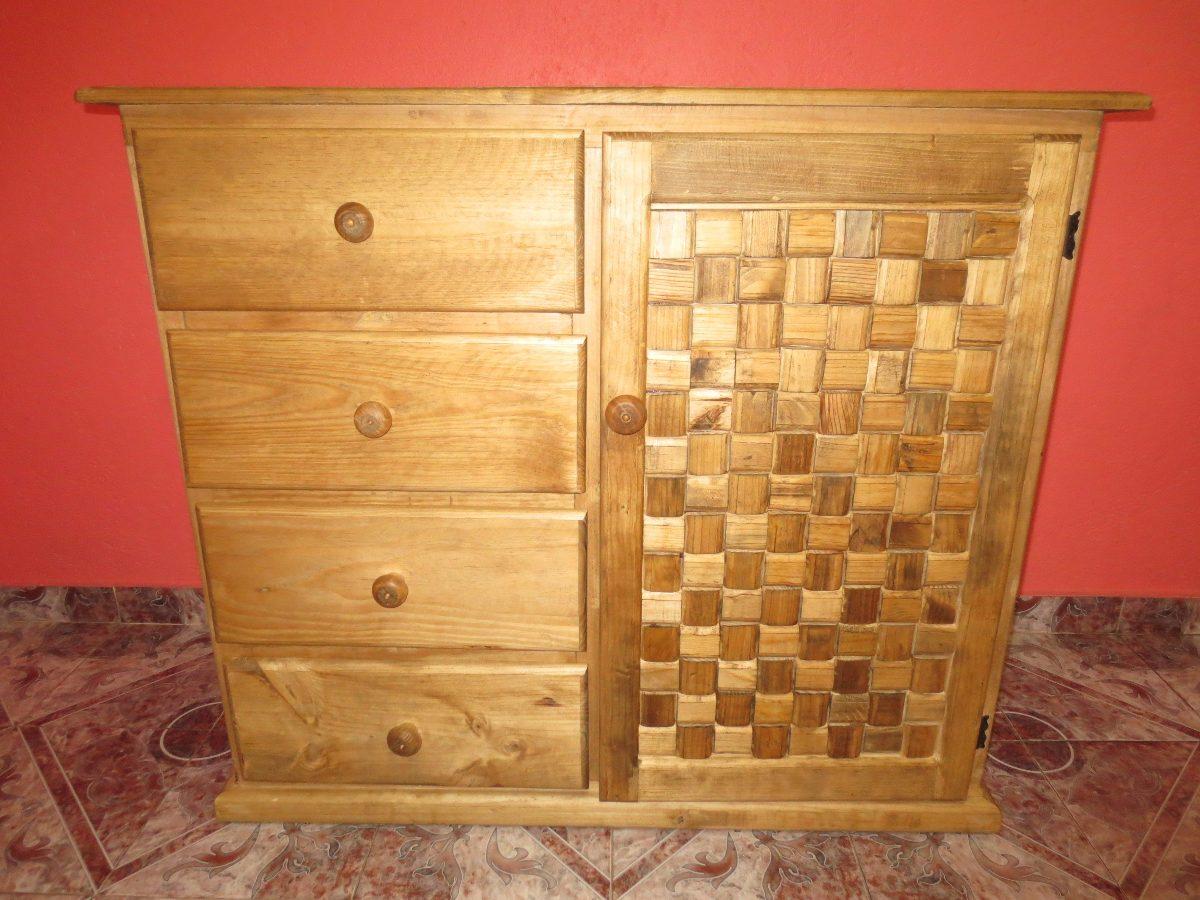 ropero de madera 4 cajones nuevo rustico **envio gratis df ... - Imagenes De Roperos De Madera
