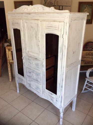 ropero de madera antiguo art deco 1920s restaurado vintage