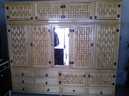 ropero de madera tipo closet 3 piezas