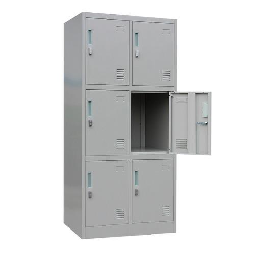 ropero locker metálico 2 cuerpos 6 puertas