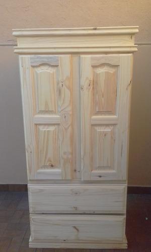 ropero pino macizo 80cm puertas de abrir